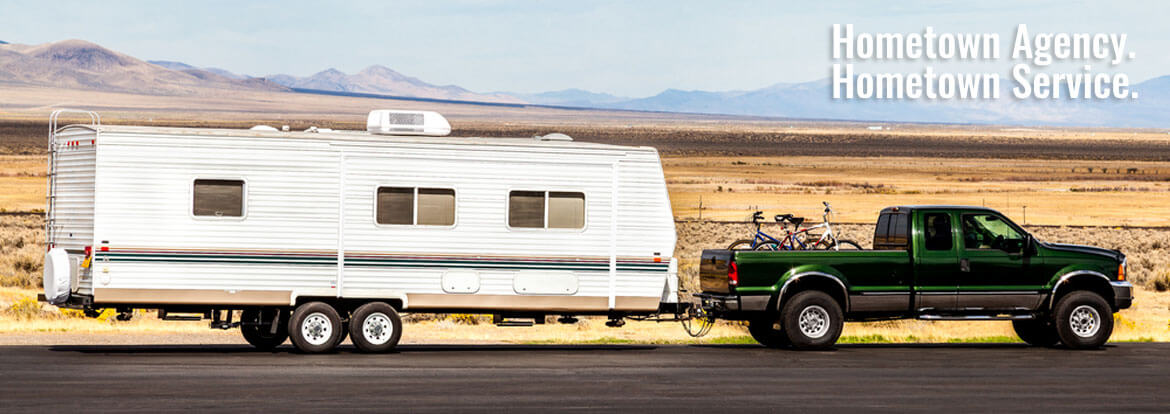 Truck towing a camper - Auto & RV Insurance