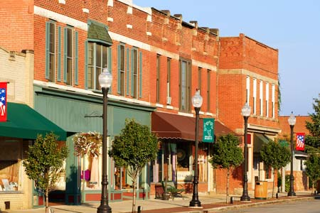 Business district of a small town - Commercial Insurance
